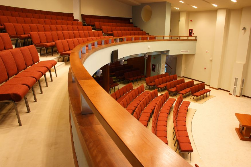 Balcony View of Church Auditorium