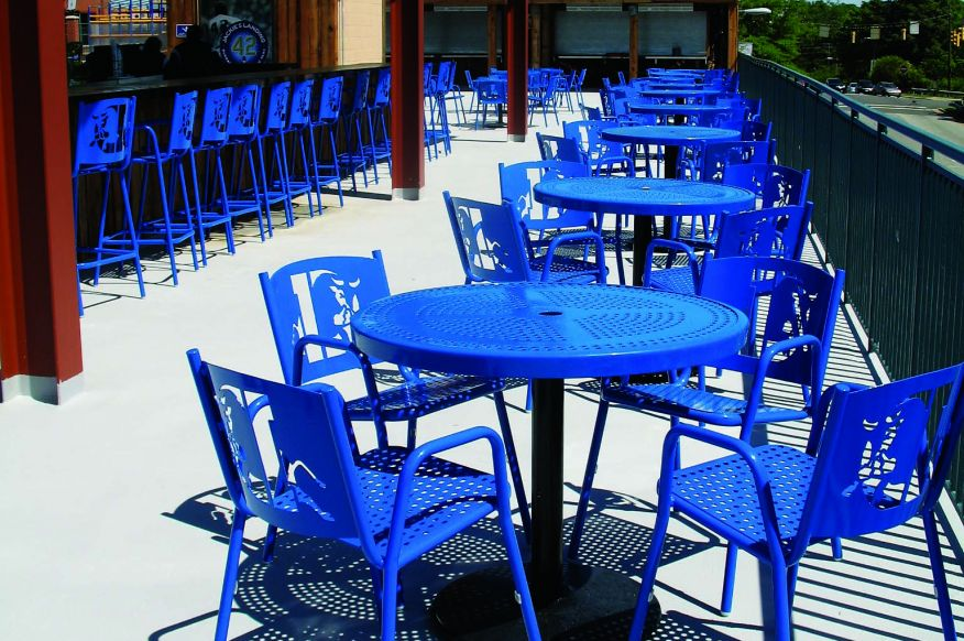 Patio Furniture at Baseball Stadium