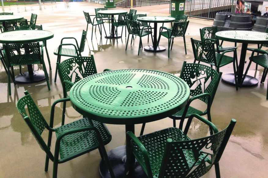 Ballpark Patio Tables and Chairs