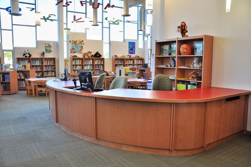 Virco Library Furniture Tesco Circulation Desk
